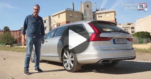 Missa inte vår informationsrika film från provkörningen av Volvo V90.
