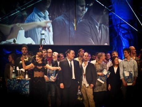 Alla vinnare på scen. White Guide 2012.