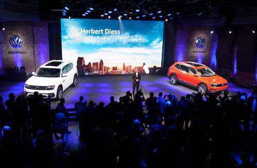 Två suvar i en smäll från Volkswagen under Detroitsalongen. Atlas och Tiguan Allspace.