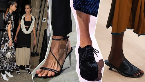 Vårens skomode 2020 från Proenza Schouler, Versace, Prada, Tods.
