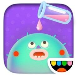 En app som kan spelas på många olika nivåer beroende på barnets ålder.