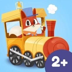 Kör tåget från station till station i en fint illustrerad app.