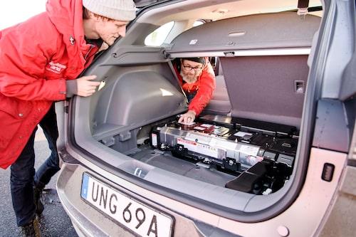 Hyundai Nexo har smart paketering av batteriet bak som inte stjäl värst mycket utrymme.