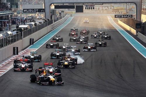 Sebastain Vettel tog starten men kom inte mycket längre än så.