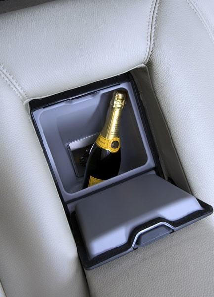 Champagnen är alltid på kylning.