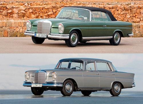 Coupén och cabrioleten anslöt 1961 och fanns i produktion tio år framöver. Toppmodellen 300 SE var ett exklusivt val. Denna pampiga bil hade luftfjädring, bromsservo och automatisk växellåda.