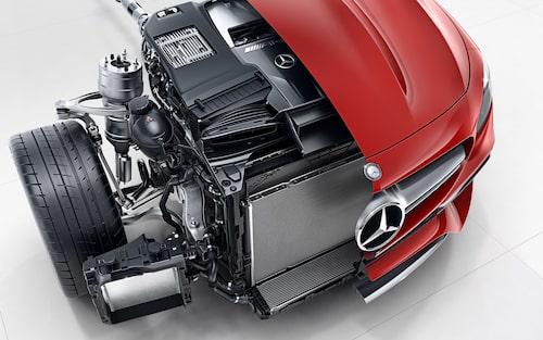 En AMG-V8 under huven... en allt mer ovanlig syn i framtiden.