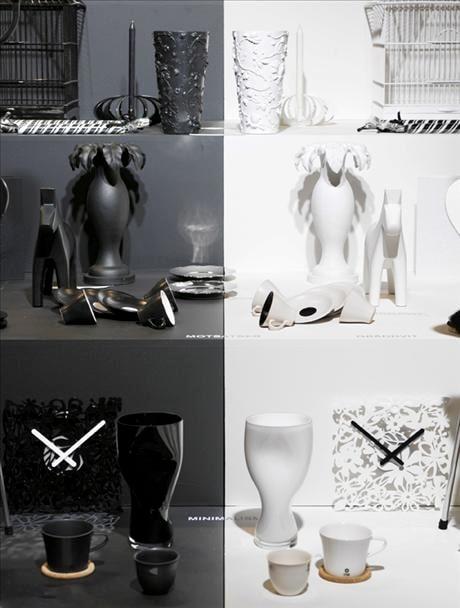 Den svartvita trenden står som en kontrast mot dessa båda, med sin grafiskt tydliga signaler, ofta med dekorerade ytor.