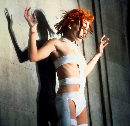 """""""Milla Jovovich iklädd Gaultier i filmen 'Det femte elementet'."""""""