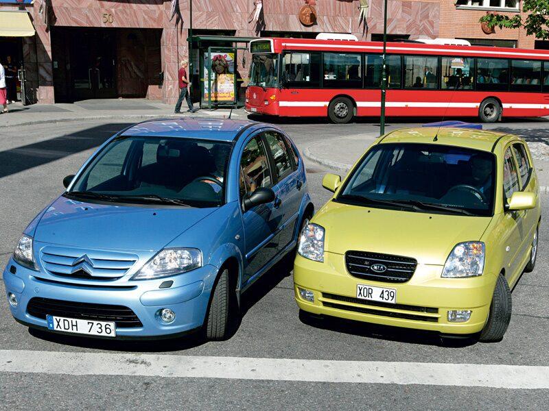 Provkörning av Citroën C3 HDI och Kia Picanto CRDi Sport