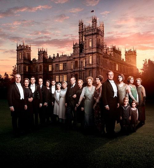 Downton Abbey-ensemblen.