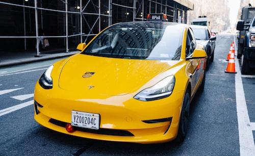 Elektrisk Yellow Cab-taxi i New York, ingen vanklig syn i dag, men lär så bli de kommande åren.