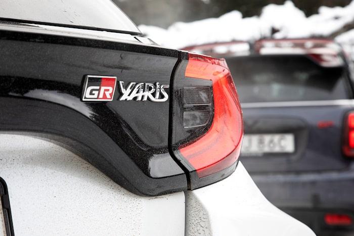 GR står för Gazoo Racing – Toyotas prestandadivision som bland annat inhyser WRC-stallet.
