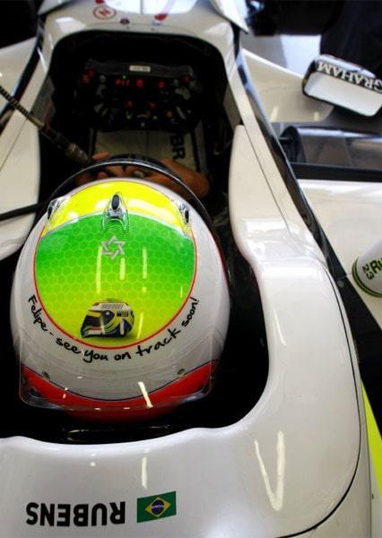 Barrichellos hälsning till landsmannen Felipe Massa.