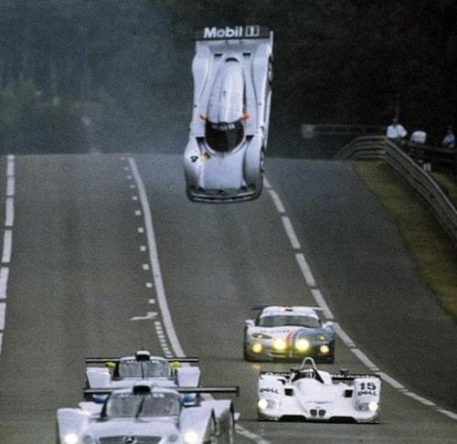 Från 1999 års upplaga minns flest lyftet av en Mercedes CLR-GT1.