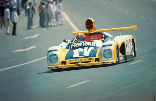 Jabouille och Depaillers Alpine A443 vinner Le Mans 1978.