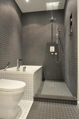 badkar och dusch i ett