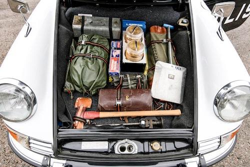 Enligt tillverkaren rymmer bagageutrymmet framtill i Porsche 911 135 liter…