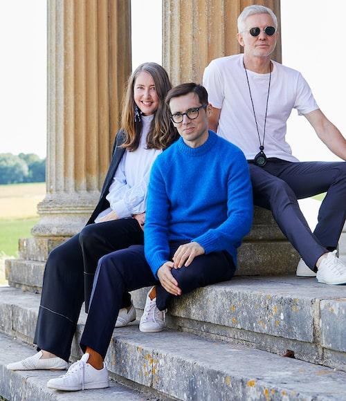 Ann-Sofie Johansson, kreativ rådgivare på H&M,Erdem Moralioglu ochBaz Luhrmann.