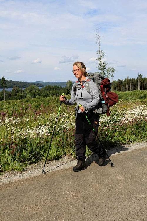Ann-Zofie ficke n spontan idé - att pilgrimsvandra 24 mil i Sverige.