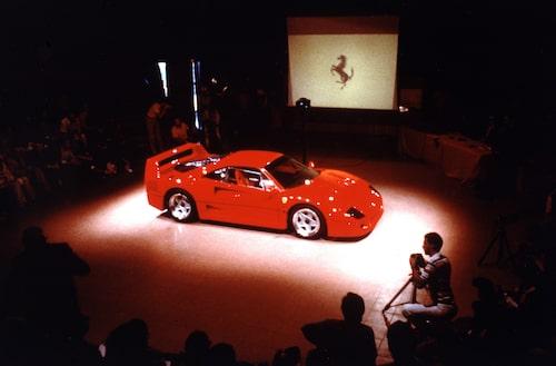 Premiären av Ferrari F40 1987
