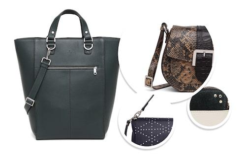 Stor handväska med axelrem, 2999 kr.
