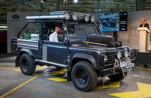 "2001 Land Rover Defender ""Tomb Raider""."