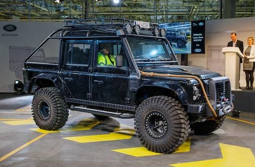 2015 Land Rover Defender från James Bond-filmen Spectre.