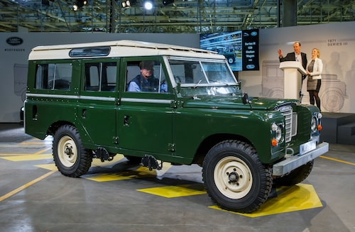 1979 Land Rover Series III Station Wagon med 109-tums hjulbas (2 769 mm).