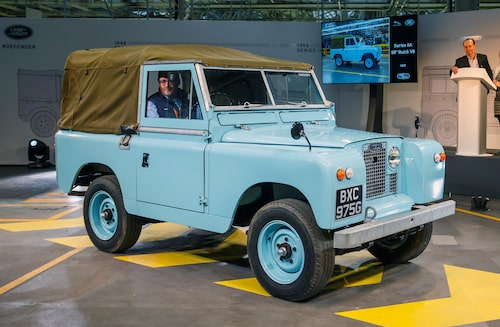 1967 Land Rover Series IIA med Buick-V8.