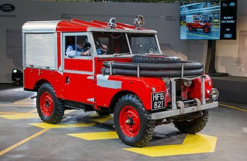 1956 Land Rover Series I som brandbil.