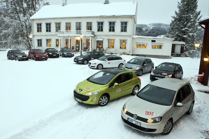 Tio bilar i Teknikens Världs stora golfklasstest.