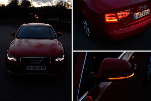 Nya Audi A4 har LED-ljus.