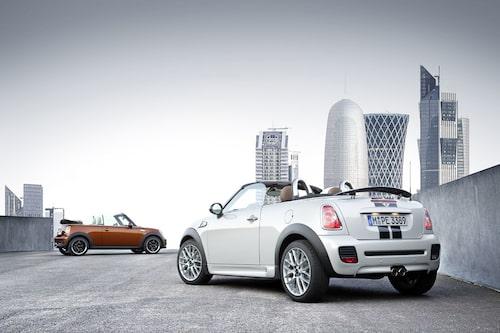 Mini hoppas att den slankare taklinjen (20 millimeter lägre än vanliga Mini Cabrio) ska locka lite mer sportigt inriktade köpare till modellen.