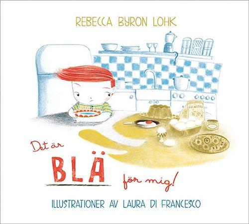 Rebecca Byron Lohk hittade ingen barnbok om ämnet allergi att läsa för sin son Matteo. Nu har hon skrivit en själv. Det är blä för mig! ges ut av Lindskog förlag.