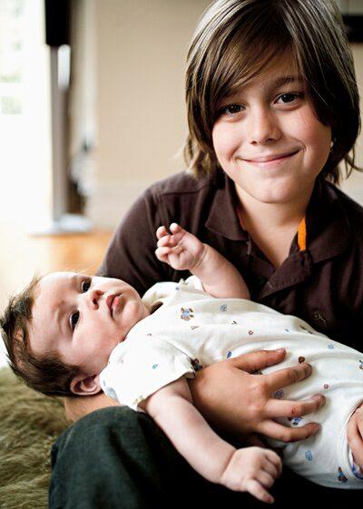 Äntligen! Benjamin har blivit storebror!