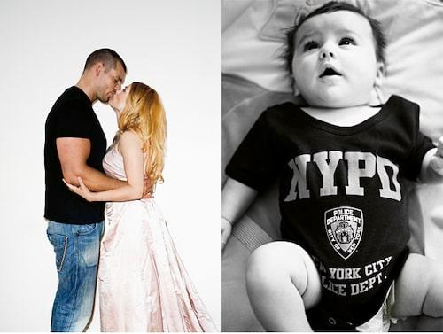 Theo är Pernilla Wahlgrens och Joachim Lenneholms första barn.