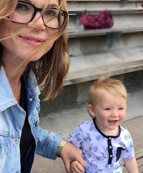 Linda Häggkvist med yngsta sonen Will, 1. Foto: privat
