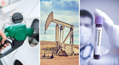 Spridningen av coronaviruset påverkar oljemarknaden, men även konflikten mellan oljeproducerande länder gör sitt till.