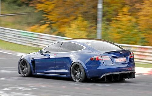 Tesla Model S extra allt. Eller Tesla Model S P100D+ Plaid som modellbeteckningen sa då.