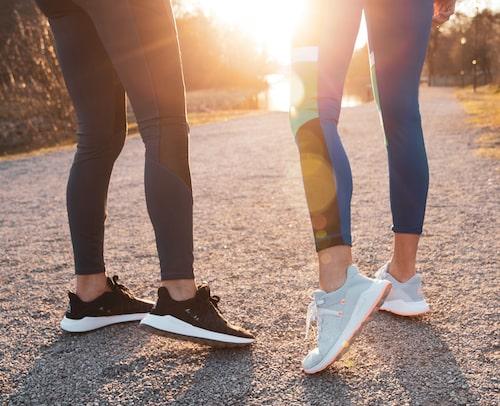 Var schysst mot dina fötter och knän! Se till att dina skor har flexibla och stötdämpande sulor.