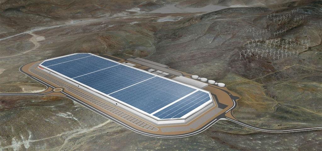 Teslas Gigafactory i Nevada blir världens största byggnad när den är färdigbyggd.