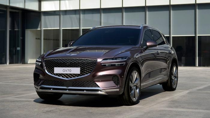 Genesis GV70 presenterades sent i fjol och är en konkurrent till bland annat Audi Q5 och Volvo XC60.