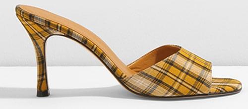 Slip in sandalett av läder/canvas, Jennie Ellen.
