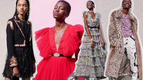 """""""Klänningarna är en viktig del av kollektionen och är även de som är mest typiska för Giambattista Valli. Men ytterkläderna är minst lika spektakulära och även smyckena är väldigt speciella."""""""