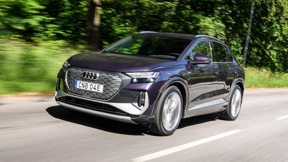 Audi räknar med att Q4 e-tron blir deras mest sålda modell i Sverige under 2022.