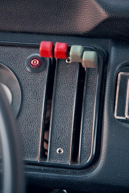 Dragreglage för ventilation i T2 är simpla och lättskötta. Värmen vintertid är i klenaste laget.