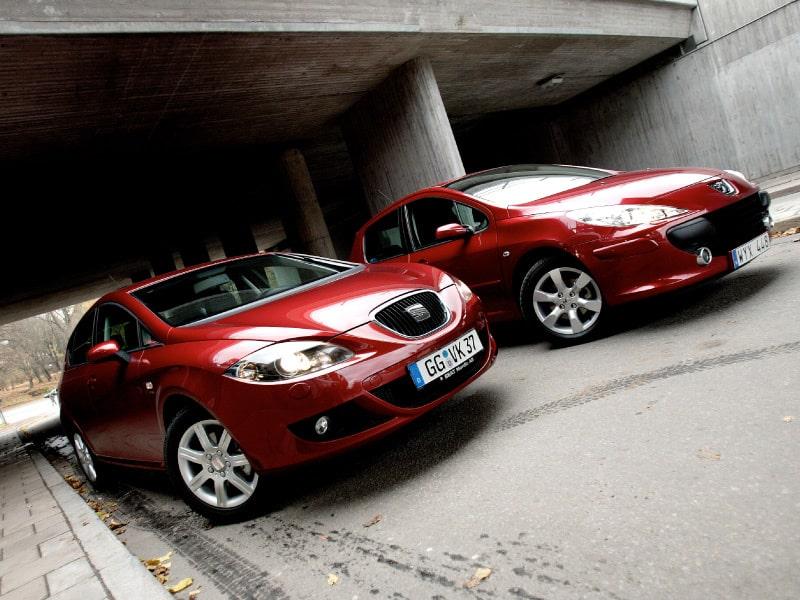 Provkörning av Peugeot 307 XS och Seat Leon 2,0 FSI.