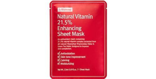 By Wishtrend Natural Vitamin 21.5 Enhancing Sheet Mask.