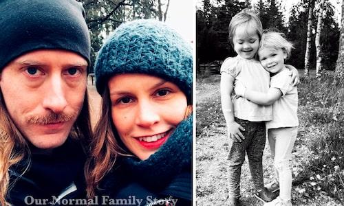 Jenny och hennes man John samt döttrarna Vanja och Hillevi.
